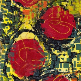 Red Dots I-mixed media - sold