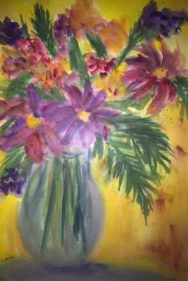 PurpleBoquet-Watercolor