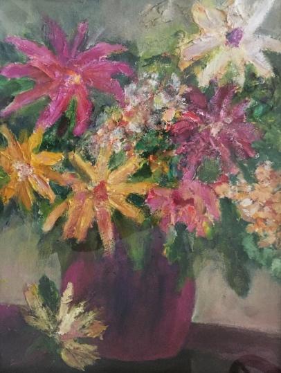 Floral Bouquet-Acrylic