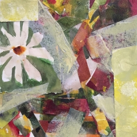 Flower Bits and Pieces-mixed media