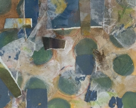 Blue Green Abstract-mixed media