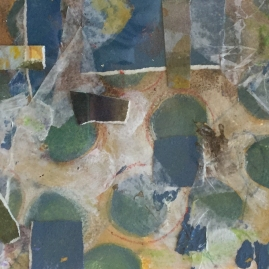 Blue Green Abstract-mixed media