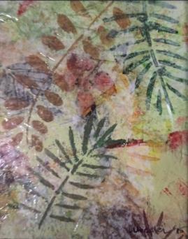 Transparent Ferns-mixed media