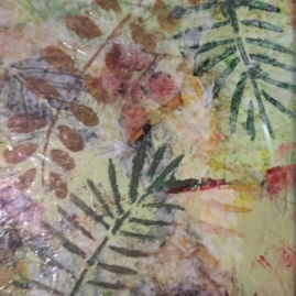 Transparent Ferns-mixed media