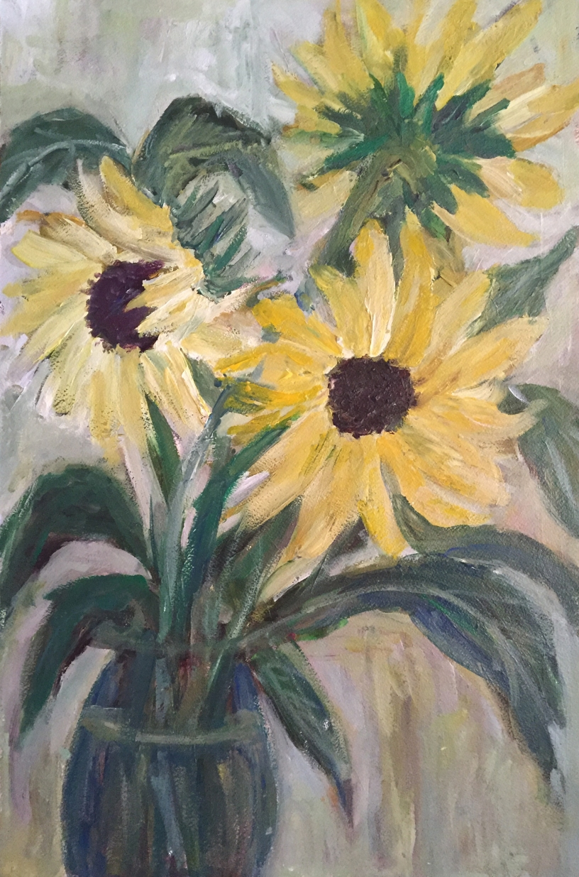 Yellow Floral-Acrylic