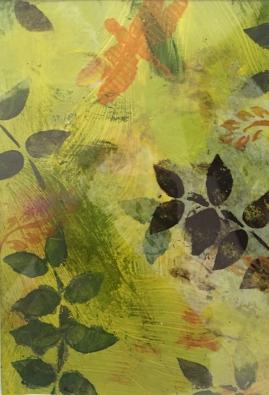 Yellow Fern I-mixed media