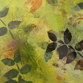 Yellow Fern I-mixed media