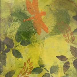 Yellow Fern III-mixed media