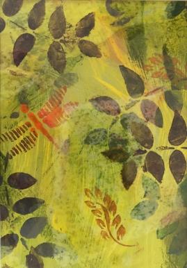 Yellow Fern II-mixed media