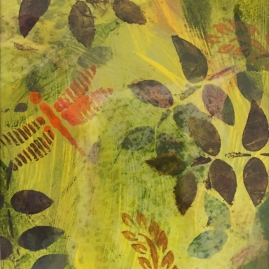Yellow Fern II-mixed media