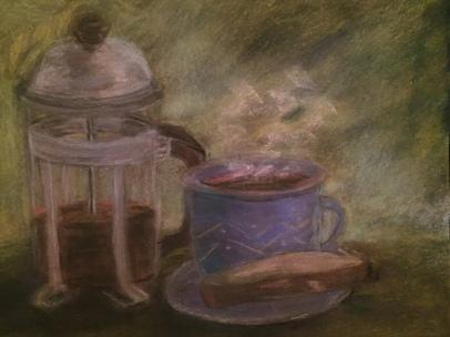 Coffee w Blue cup