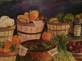 Farmer's Market Veggies-Watercolor