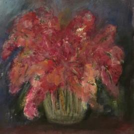pink posies-acrylic