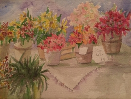 Flowers of Summer-Watercolor