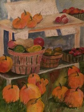 Norwich Farmers Market 1-Watercolor