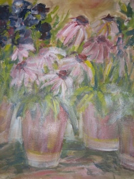 Pink Florals-Acrylic