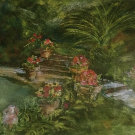 provence garden-pastel-16x20