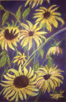 Sunflowers-Pastel
