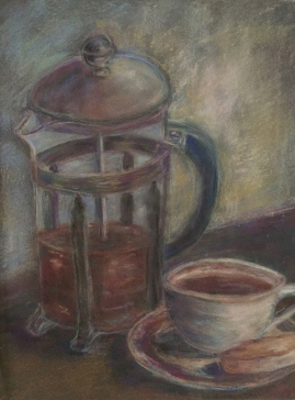 Time for Coffee-Pastel