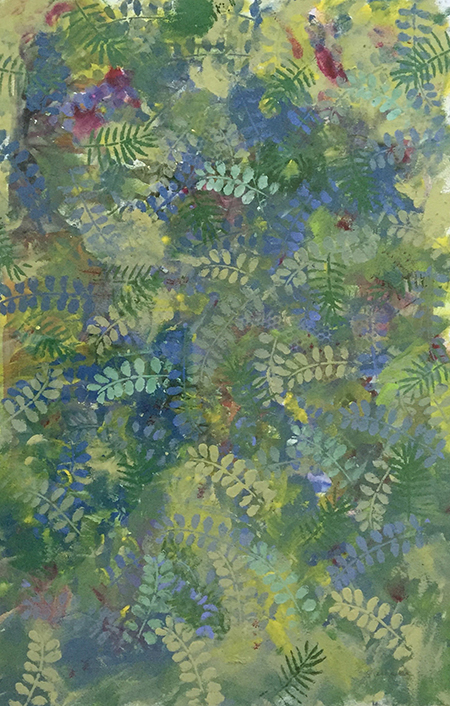 Lotsa Ferns-mixed media